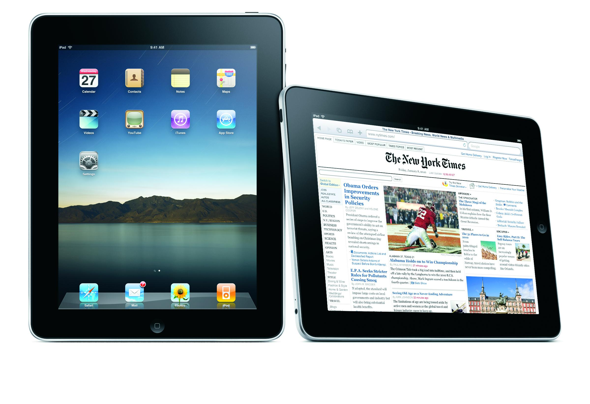 iPad - Image Courtesy of Apple